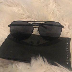 Quay Australia Solstice aviator sunglasses black